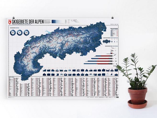 Poster Des Pistes De Ski Des Alpes
