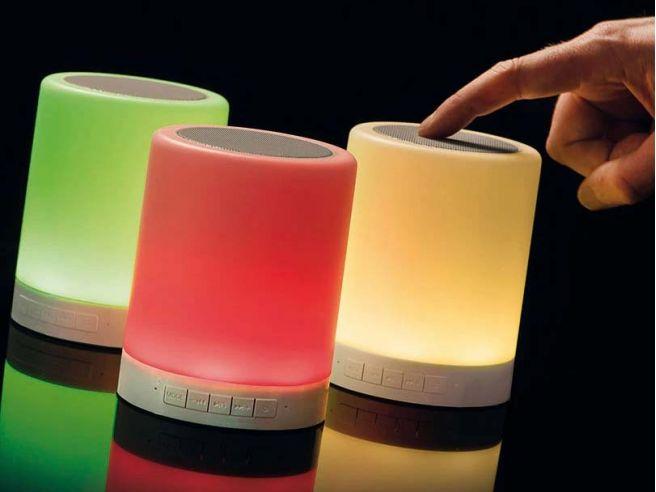 LED-Nachttischlampe mit Bluetooth-Lautsprecher