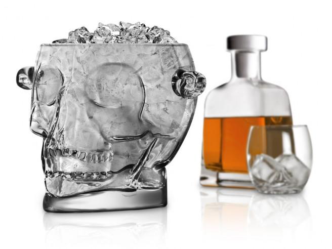 Totenkopf Eiswürfelbehälter