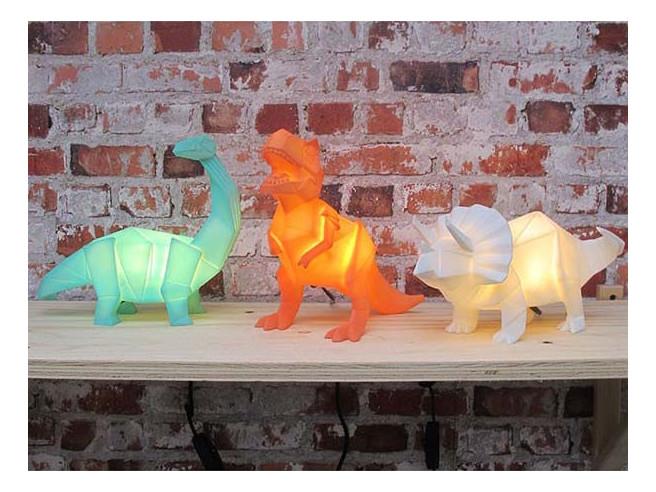 Lampe Dinosaure Origami