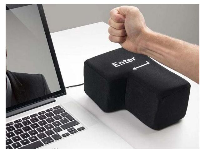 Grote Enter Knop USB