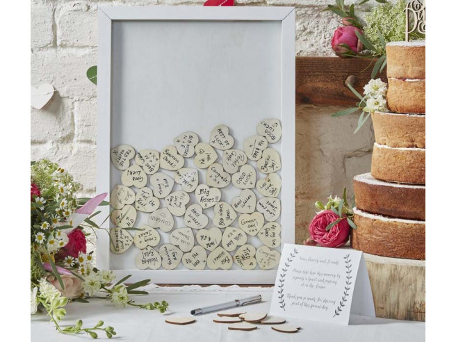 Wedding Guestbook Frame with Hearts