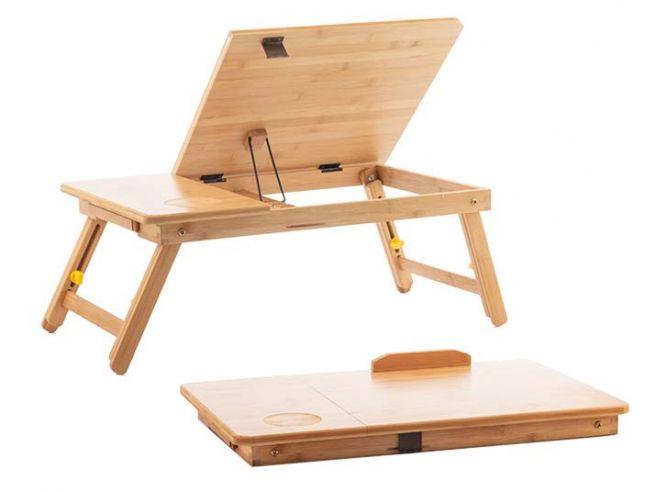 Verstellbarer Bambus Laptoptisch