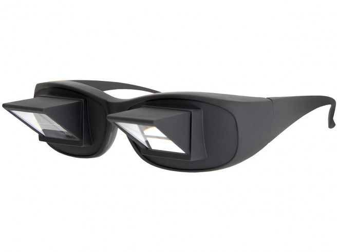 Winkelbrille - die Faulenzerbrille