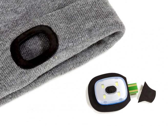 LED Beaniemütze Stirnlampe