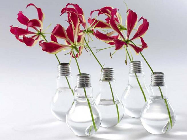 Glühbirnen-Vase (6er Set)