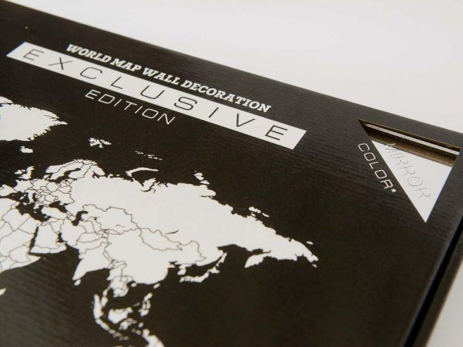 Luxe Spiegel Wereldkaart