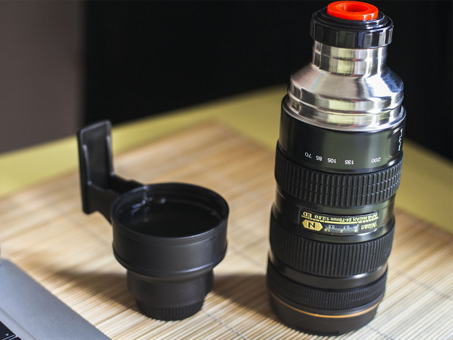 Thermos Flask Camera Lens
