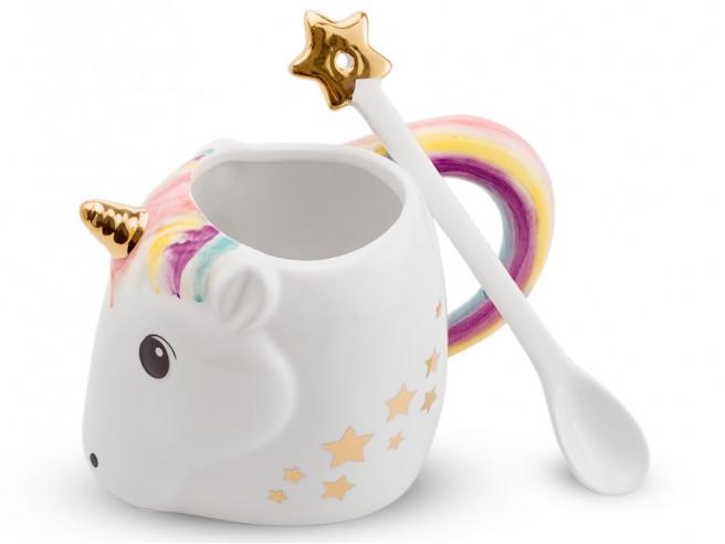 Unicorn Mug with Spoon