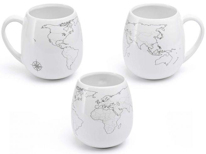 Weltkarten Kaffeebecher