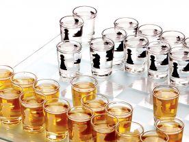 Jeu d'échecs à boire