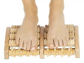 Wooden Foot Massage Roller