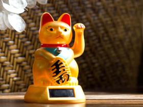 Solar Fortune Cat Winkekatze