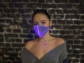 Fiber Lichtgevend Mondkapje