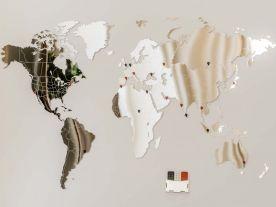 Miroir Luxueux Carte du Monde