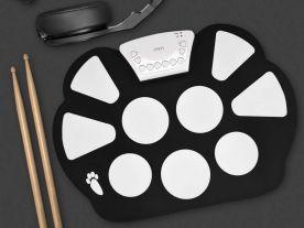Aufrollbares E-Schlagzeug mit 9 Drum-Pads
