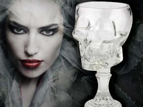 Glass Skull Goblet