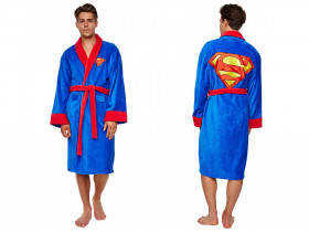 Superman Bademantel Fleece