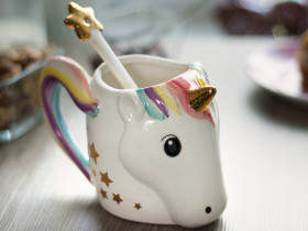 Unicorn Mug with Spoon